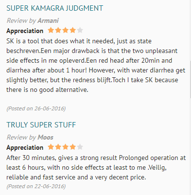 Super Kamagra Customers Review