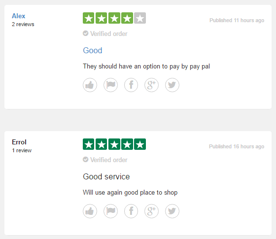 Some of Direct Kamagra UK's user reviews